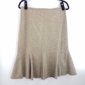 NWOT Ann Taylor Virgin Wool Pleated Flare Skirt